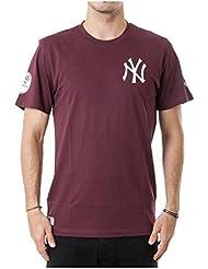 NEW ERA ne96424fa16MLB Pop BK Tee Neyyan MRN–T-shirt manches corta-línea New York Yankees pour homme, couleur violet