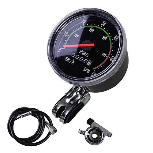 Yililay Fahrrad Mechanische Entfernungsmesser-Fahrrad-Geschwindigkeitsmesser Universal-Runde Radfahren Odograph MTB Zubehör
