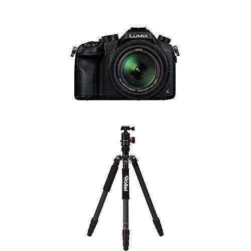 Panasonic LUMIX DMC-FZ1000EG Premium-Bridgekamera (20,1 Megapixel, 16x opt. Zoom, opt. Bildstabilisator, LEICA DC VARIO-ELMARIT Objektiv, 4K Video) schwarz+Rollei C6i Carbon Black