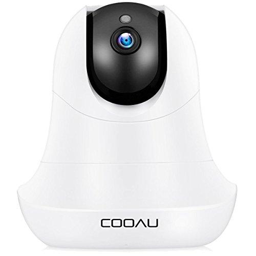 COOAU 720P HD Videosorveglianza WiFi Telecamera senza fili Pan/Tilt,Visione Notturna,