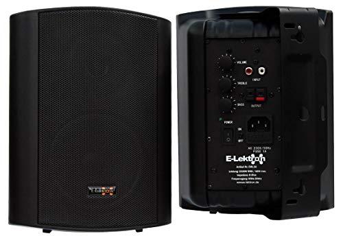 "E-Lektron EWL5A Stereo Aktiv Lautsprecher Paar inkl. Wandhalter - 5"" 2X 60W Schwarz"