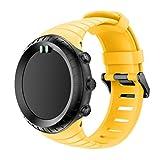 Ansenesna Sportuhr Armband Einstellen Strap Band Silikon Bracelet für Smartwatch Gps Running Runtastic Uhr Suunto Core (Gelb)