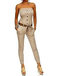 Laeticia Dreams Damen Jumpsuit Overall Bustier Sommer Lang S M L XL