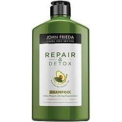 John Frieda Repair & Detox Shampoo - Mit Avocado-Öl und Grüntee - Für strapaziertes Haar, 2er Pack (2 x 250 ml)