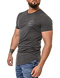 Jack & Jones Herren T-Shirt Kurzarmshirt Oversize Longshirt Basic O-Neck