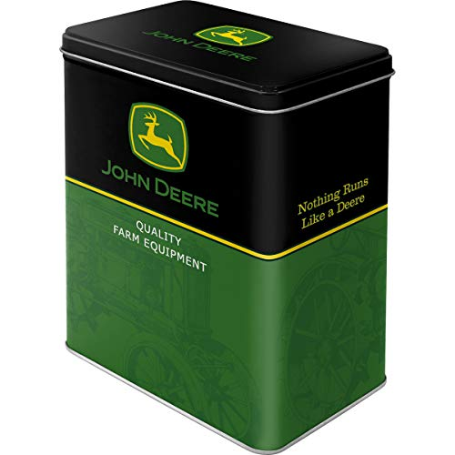 Nostalgic-Art 30115 John Deere - Logo - Black and Green, Vorratsdose L - Jd John Deere