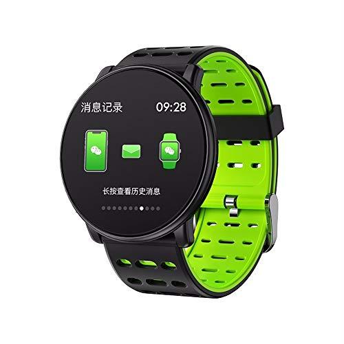 LRWEY Fitness Smart Watch, Smart Watch gehärtetes Glas DIY Watch Faces Multi-Sportmodus Pulsmesser Männer Frauen Smartwatch, FüR iOS Android