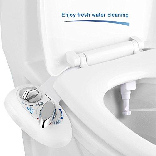 YEGU Bidet, Dusch-WC für Intimpflege mit Reinigungsfunktion , Selbstreinigung Single Düse 2 funktioniert zu Hot und Cold Süßwasser