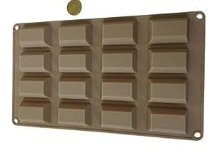16 riegel rechtecke silikonform backform schokoladenform. Black Bedroom Furniture Sets. Home Design Ideas