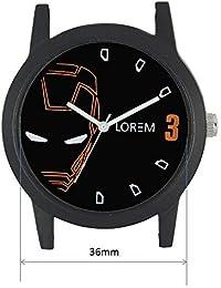 Xurious Enterprise Round Dial Analogue Black Dial Brown Leather Strape Fashion Wrist Watch For Men & Boys | XE_LR...
