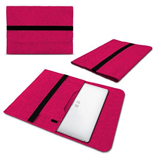 UC-Express Laptop Schutzhülle für 9,7-17.3 Zoll aus Filz Sleeve Hülle Tasche Cover Notebook Case Ultrabook MacBook Tasche z.B. Samsung Apple ASUS Medion Lenovo, Größe:12.5-13.3 Zoll, Farbe:Pink