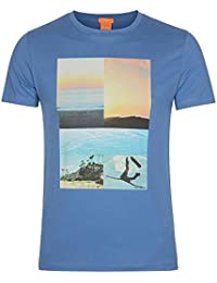 BOSS ORANGE T-SHIRT TACKET 3 FARBE BLAU 470