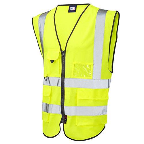 arizone-hi-vis-viz-executive-safety-waistcoat-vest-phone-id-pocket-multi-pockets-jacket-vest-2xl-yel