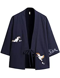 Zhuhaitf Verano Cloak Cárdigan Kimono Japón Capa para Hombres Mujeres Kimono Jacket Casual Chinese Style,Trajes de Estilo Japonés