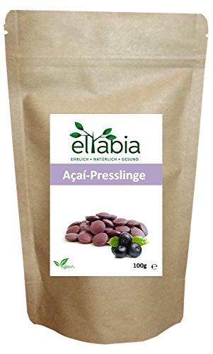 eltabia Acai Presslinge 200 Tabletten Standard Pack 100g hochdosiert Rohkostqualität vegan -