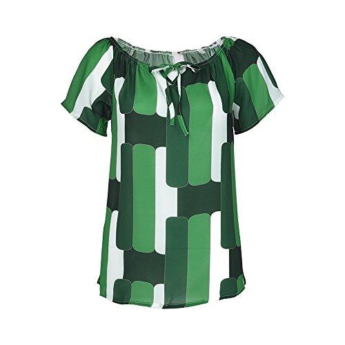 Yvelands Mode Frauen Off-Schulter Kurzarm T-Shirt Mädchen Chiffon -