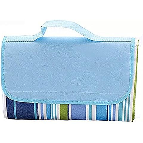 Togather® Playa manta alfombra Picnic manta agua prueba estera al aire libre, Camping manta, Multicolor alfombra de exterior (tamaño: 150x200cm) - azul