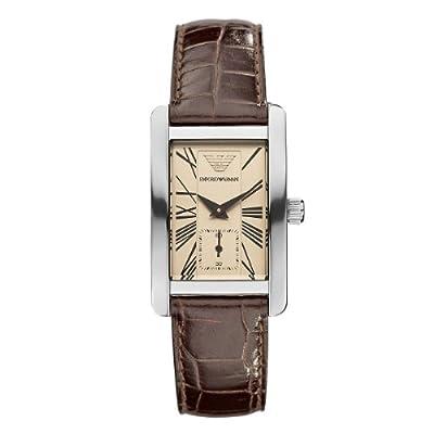 Emporio Armani Classic AR 0155 - Reloj analógico de cuarzo para mujer, correa de cuero color marrón de Emporio Armani
