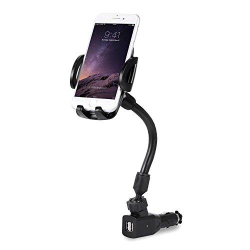Kfz-Halterung für Zigarettenanzünder mit Dual USB 2.1 A Ladegerät kompatibel iPhone X XS Max XR 8 Plus Samsung Galaxy S10 S9 Note 9