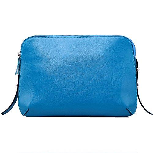 Spalla Yy.f Ms. Pacchetto Diagonale Borsa Di Cuoio Pacchetto Diagonale Della Spalla Pelle A Tracolla Diagonale Pacchetto Diagonale Ms. Multicolore Blue