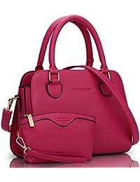e720e08999 Oruil Medium Size Tote Bag with Zip for Women PU Leather Shoulder Bag  Handbag with Detachable