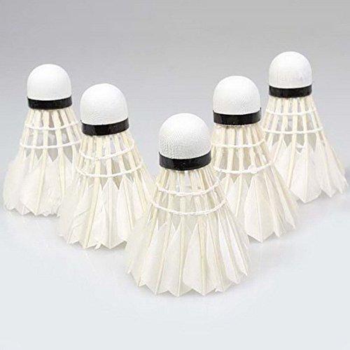 Tamlltide Sport-Bälle mit Entenfedern, Weiß, 5 Stück
