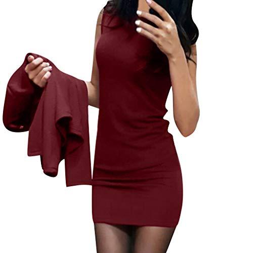 Damen Abendkleider Elegante Spitzenkleid Vintage Kleid 3/4 Ärmel Partykleider Knielang...