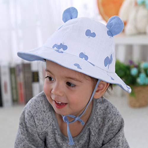 zhuzhuwen Zwei Ecke Becken Kappe kreative Kinder Hut Cartoon Flut Fischer Hut Baby Visier 4 50cm