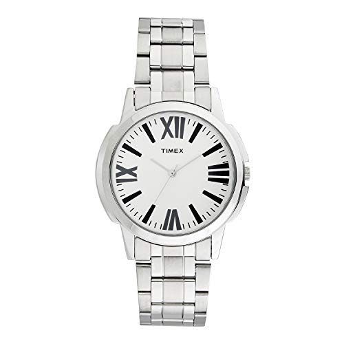 Timex White Dial Chain Watch for Men's- TW000CP00