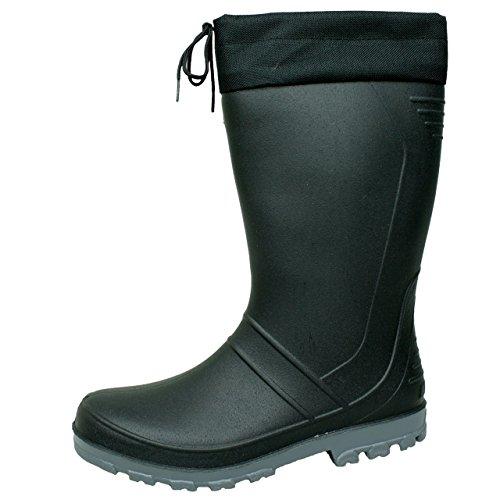 BOCKSTIEGEL® AXEL Hommes - Bottes en caoutchouc de haute qualité (Tailles: 36-47) Noir - Noir
