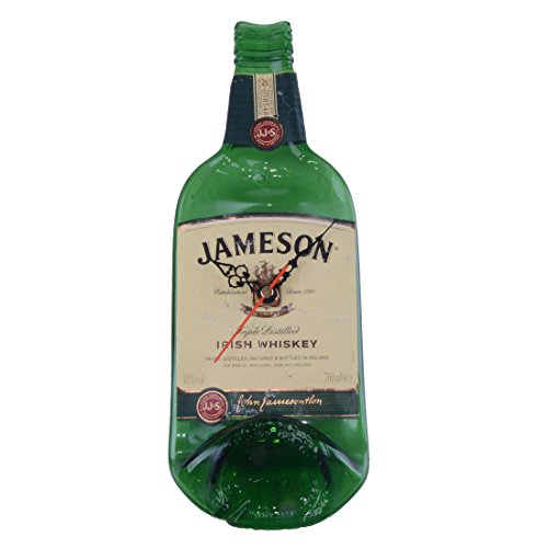 100% Handcrafted Original Glass Bottle & Label Clock - Jameson Irish Whiskey (Whiskey Labels Bottle)