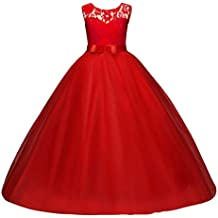 4e4f01432c Princesa Vestido de niña de Flores para la Boda Vestidos de Dama De Honor  Sin Mangas