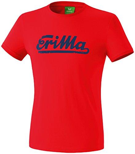 erima Herren Retro T-Shirt Rot/New Navy