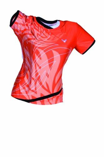 Victor 6633 Korea Open T-shirt pour femme Multicolore Orange/Noir