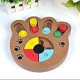 Lorenlli Multifuncional Alimentos Naturales Tratados Madera Educativa Paw Puzzle Juguete Interactivo para Cachorros Perros Gatos Mascotas Suministros
