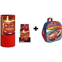 Cars - Pack Mochila infantil 29cm + Braga cuello con interior coralina