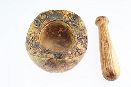 D.O.M. Olive Wood Madera de olivo mortero y pilón, estilo rústico, grano/Natural - 2