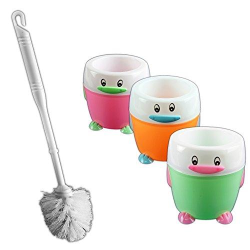 Kreative Schöne Toilettenbürste Klobürste WC Bürste Toiletten Kitschig Bürstengarnitur Penguindesign (Grün)
