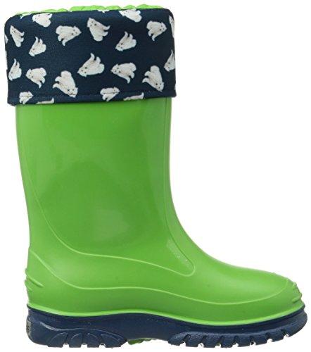 Romika Eisbär Unisex-Kinder Kurzschaft Gummistiefel Grün (lime-blau 646)