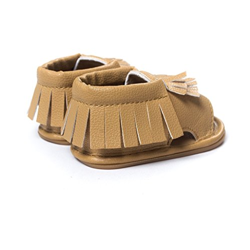 Baby Schuhe Auxma Baby Jungen Mädchen Frühling Sommer Schuhe Mode Sandalen Für 3-18 Monate (3-6 M, Weiß) Khaki