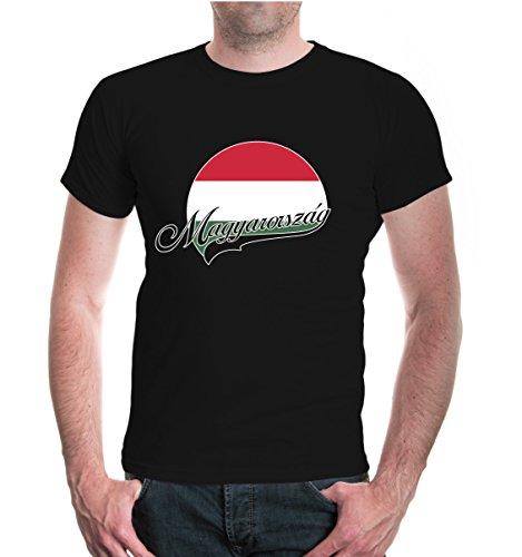 buXsbaum® T-Shirt Ungarn-Logo Black-z-direct