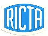 Ricta Skateboard Wheels Sticker - 10cm wide - blue and white - skateboarding sk8