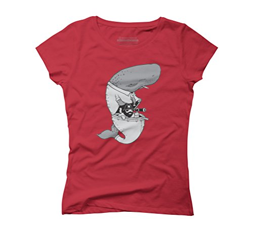 piratte in the while Women's Graphic T-Shirt - Design By Humans Red