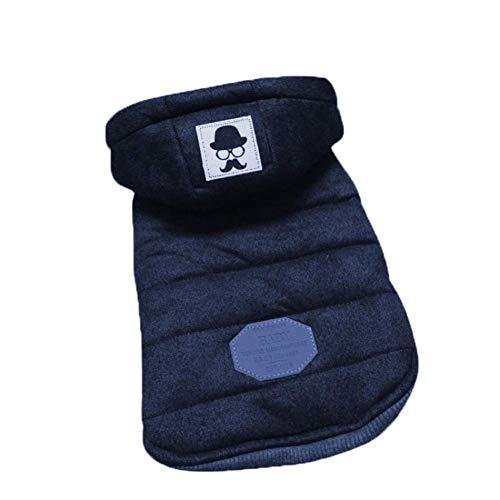 stier Bekleidung Mit Kapuze Dick Baumwolle Katze Huuml;ndchen Klein Mittel Hunde Kostuuml;m Blau Grau Haustier-Kostuuml;m ()