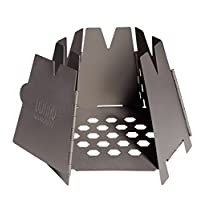Vargo Hexagon wood stove, camping stove for folding.