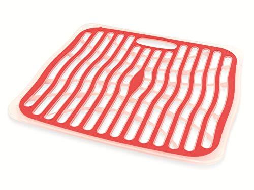 Guilty Gadgets  ® Praktische Spüle Matte für die Küche - großer Spüle Schutz aus Kunststoff - Verstellbare Abtropfmatte für die Spüle (4 - Edelstahl Spüle Protector