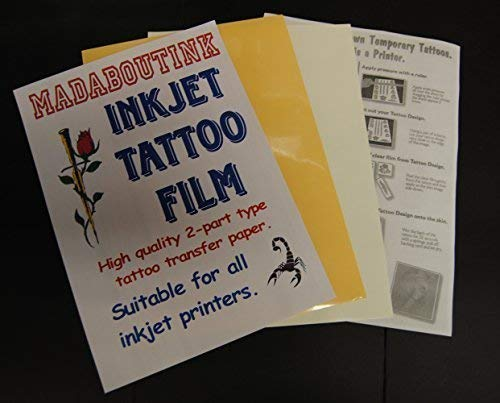 Madaboutink 2-Part Pro Inkjet Tattoo Transfer Paper