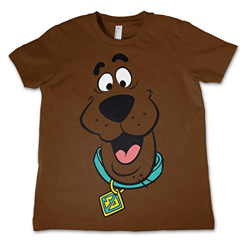 odukt Scooby Doo Face Unisex Kinder T-Shirt - Braun 5/6 Jahre (Baby-scooby Doo)