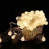 Weihnachten Lichterkette, 1,2 m LED dekorative Lichterkette Malloom, Feenhafte LED Schnur beleuchtet Weihnachtsrunden Ball Blubs Hochzeitsfest Lampe