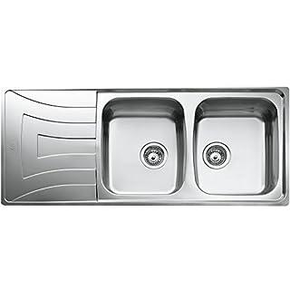Teka Edelstahl Spüle Küchenspüle Spültisch Spülbecken Einbauspüle mit zwei Becken und Abtropffläche, UNIVERSO 2C 1E CN MTX